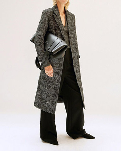 LES COYOTES marthe coat  big check