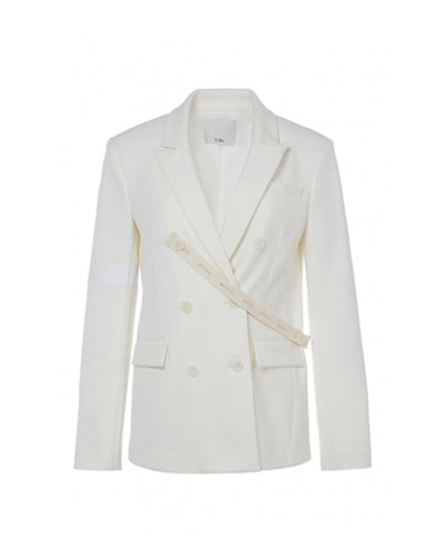 TIBI mora suiting steward blazer stripe ivory