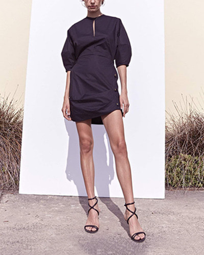 PFEIFFER the pablo mini dress nude / black
