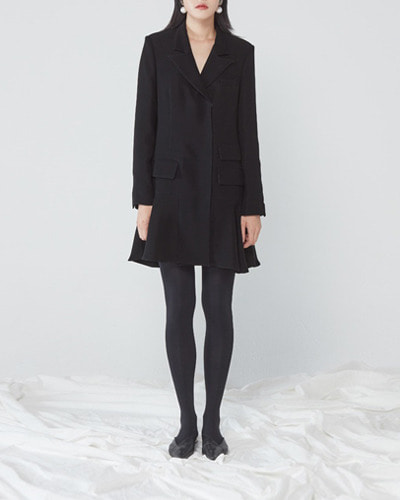 JO5 simple jacket dress  black
