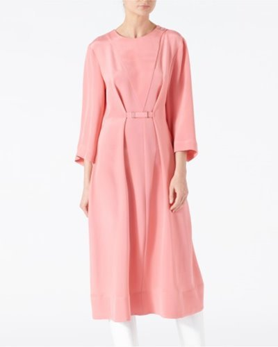 TIBI silk cropped sleeve dress  pink