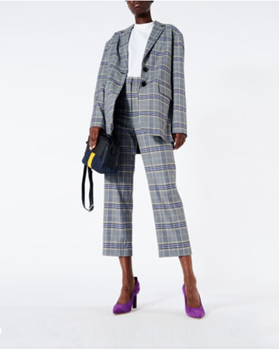 TIBI lucas suiting oversized blazer  black multi
