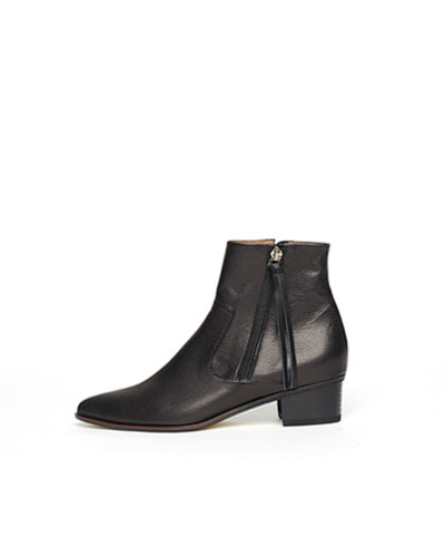 LANE.910 lh1-sb002 pointed zip boots black